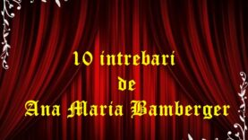 10 intrebari de Ana Maria Bamberger