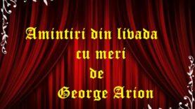 Amintiri din livada cu meri de George Arion