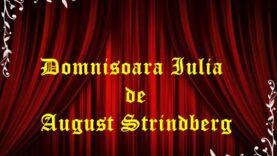 Domnisoara Iulia de August Strindberg