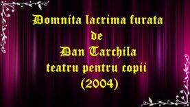 Domnita lacrima furata de Dan Tarchila teatru pentru copii (2004)teatru.latimp.eu