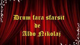 Drum fara sfarsit de Aldo Nikolaj teatru radiofonic latimp.eu