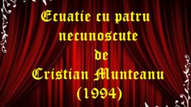 Ecuatie cu patru necunoscute de Cristian Munteanu