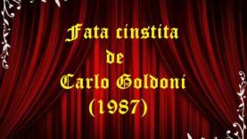 Fata cinstită de Carlo Goldoni