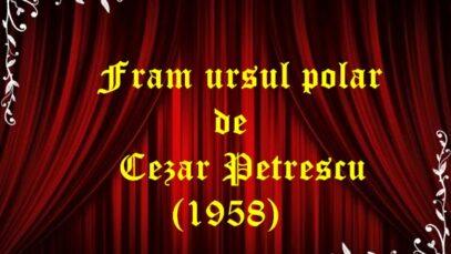 Fram ursul polar de Cezar Petrescu