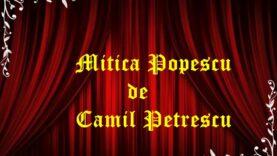 Mitică Popescu de Camil Petrescu