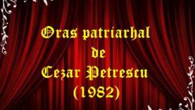 Oraș patriarhal de Cezar Petrescu