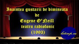 Inaintea gustarii de dimineata de Eugene O'Neill teatru radiofonic(1993)