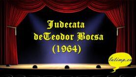 Judecata deTeodor Bocsa (1964)