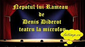Nepotul lui Rameau de Denis Diderot teatru la microfon teatru latimp.eu3