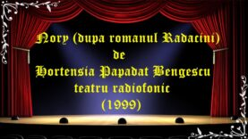 Nory de Hortensia Papadat Bengescu teatru radiofonic (1999)latimp.eu