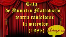 Tata de Dumitru Matcovschi teatru radiofonic la microfon(1985) teatru latimp.eu2