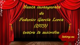 Nunta insangerata de Federico García Lorca (1979) teatru la microfon latimp.eu