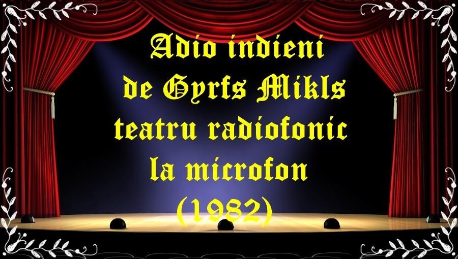 Adio indieni de Gyrfs Mikls teatru radiofonic la microfon (1982) latimp.eu teatru