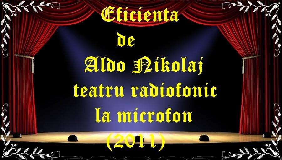 Eficienta de Aldo Nikolaj teatru radiofonic la microfon (2011) latimp.eu teatru