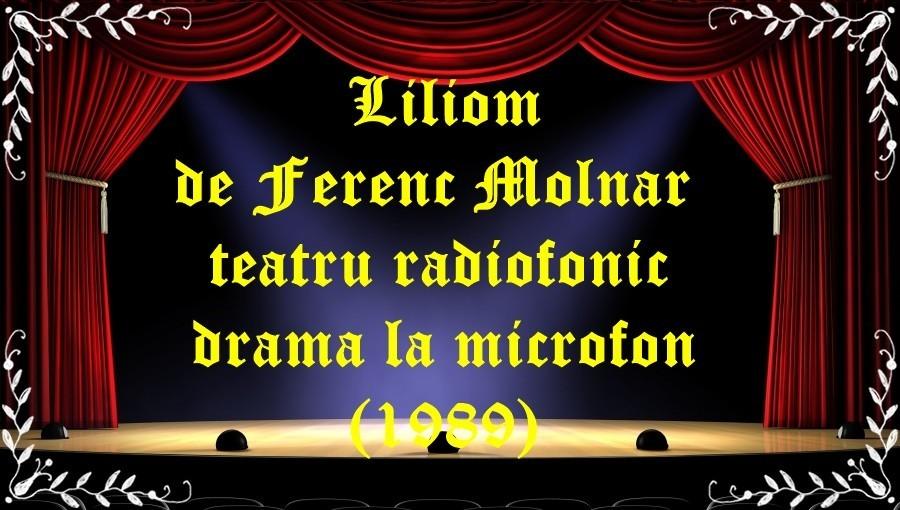 Liliom de Ferenc Molnar teatru radiofonic drama la microfon(1989) latimp.eu teatru