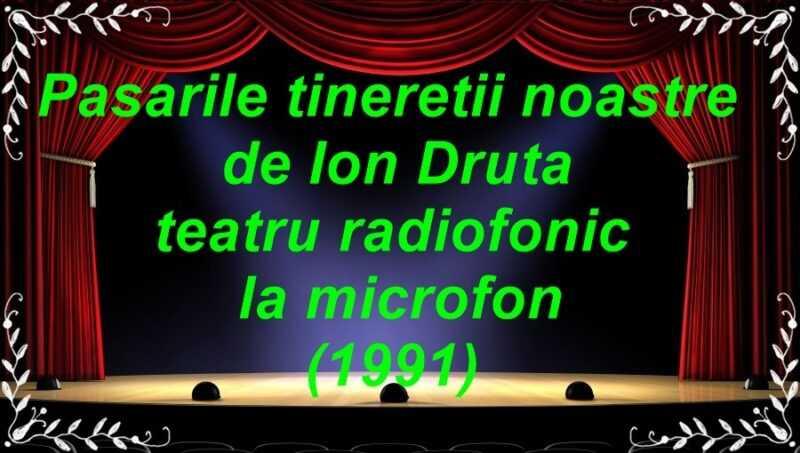 Pasarile tineretii noastre teatru radiofonic la microfon (1991) latimp.eu teatru